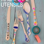 DIY // Washi Tape Utensils