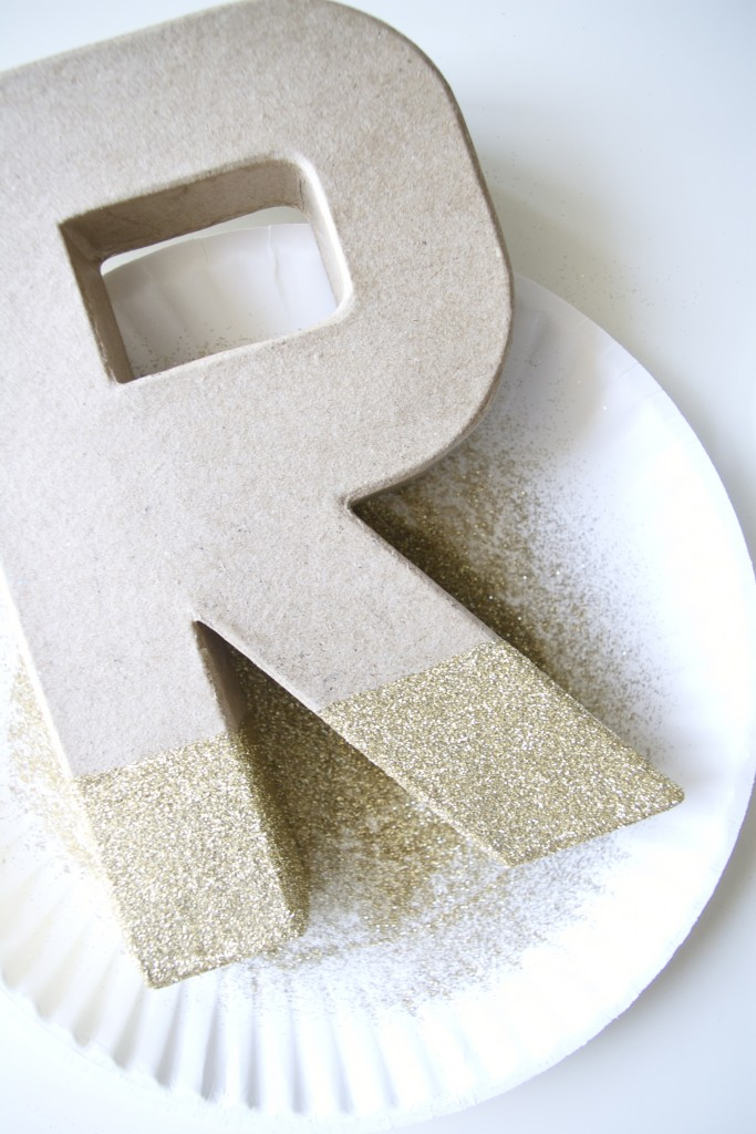 step 4 DIY glitter monogram