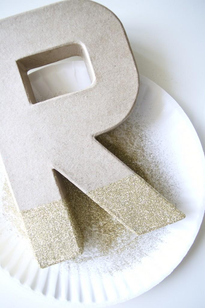 step 4 DIY glitter monogram