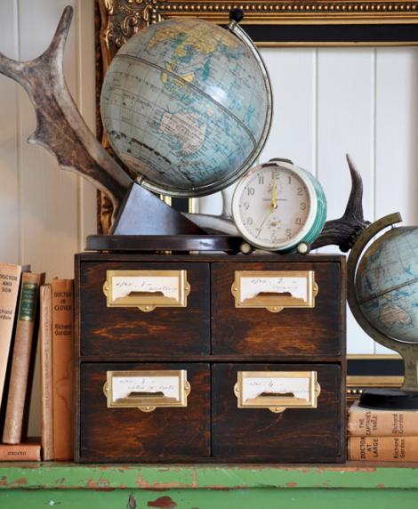 DIY vintage file drawer ikea hack