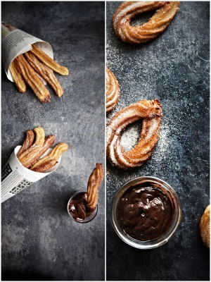 food photography & chocolate churros