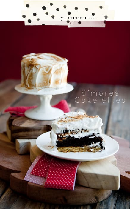 recipe for individual smores cakelettes cake