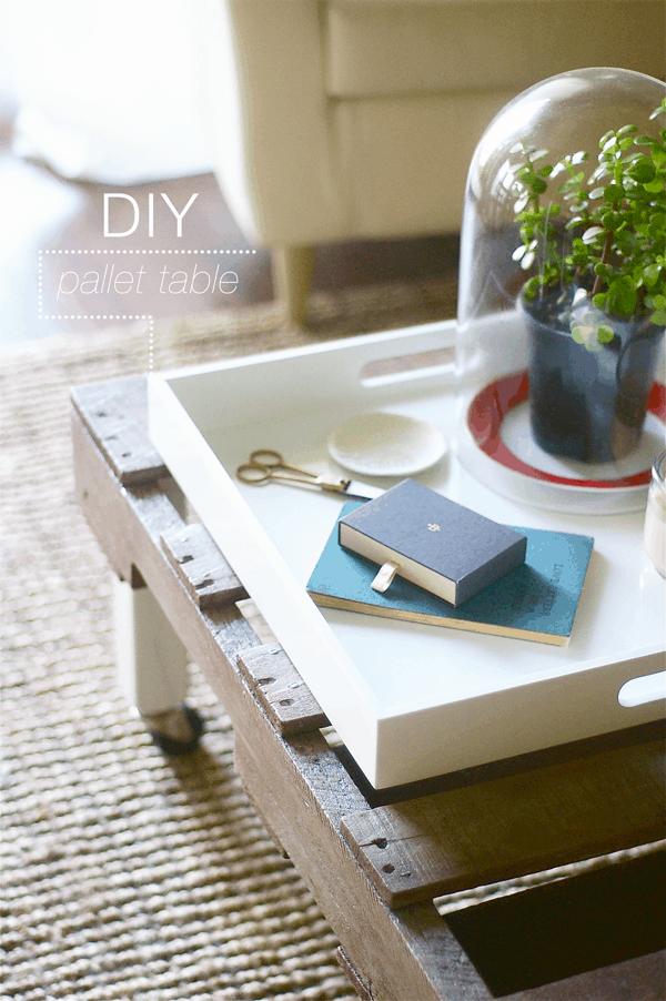diy pallet coffee side table