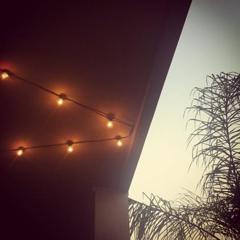 string lights summer porch