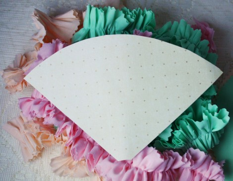 diy ice cream ruffles part decor