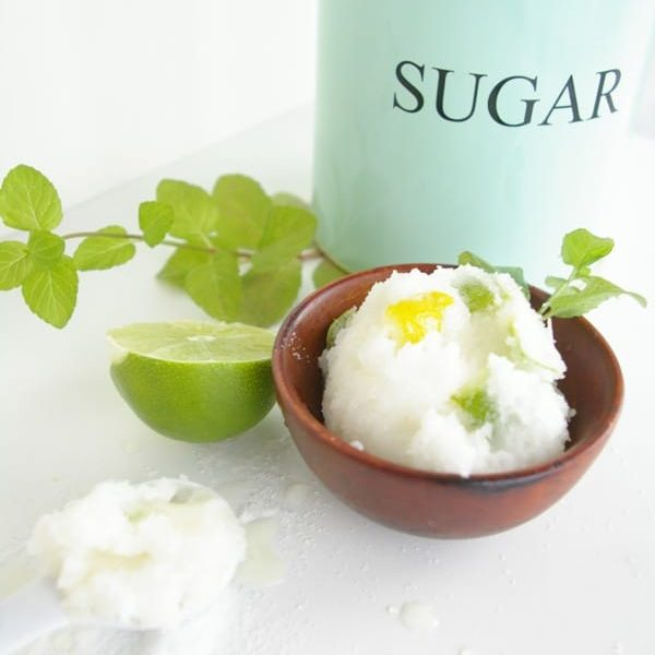 DIY organic citrus sugar scrub for summer