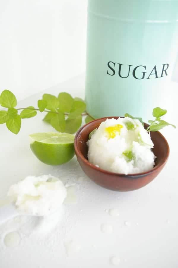 DIY organic citrus sugar scrub for summer
