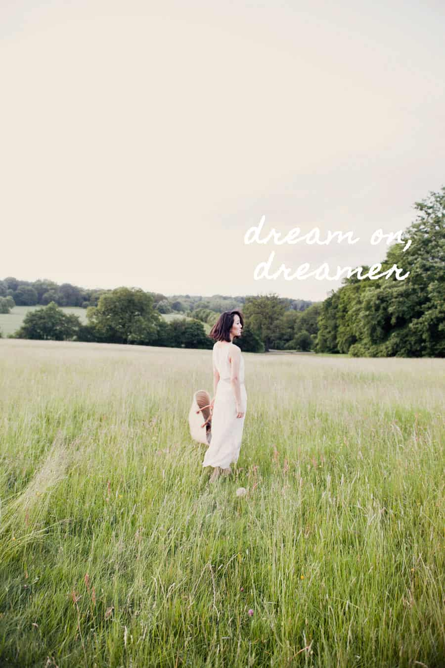summer field photography dream on dreamer quote
