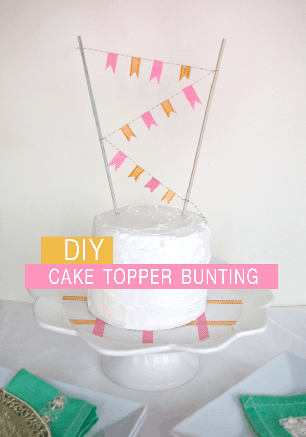 DIY Washi Tape Bunting & Cake Plate by Ashley Rose of Sugar & Cloth, a top lifestyle blog in Houston, Texas