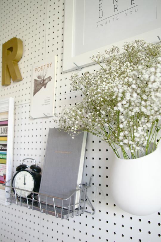 DIY Pegboard Headboard by Ashley Rose of Sugar & Cloth, a top lifestyle blog in Houston, Texas