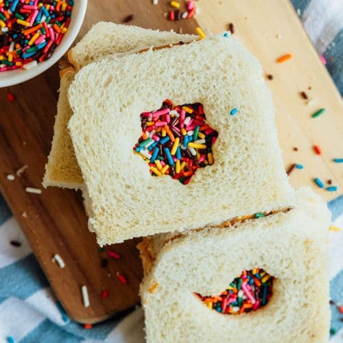 photo of the different cutouts to use on your fairy bread recipe by top Houston lifestyle blogger Ashley Rose of Sugar & Cloth
