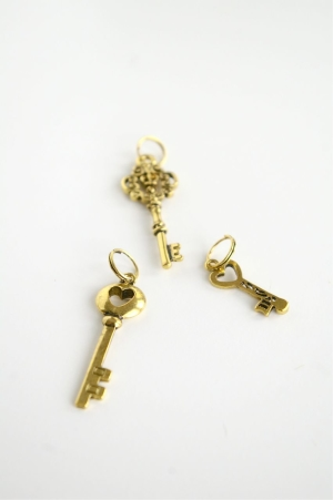 golden key jewelry charms