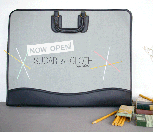 shop sugar and cloth etsy now open