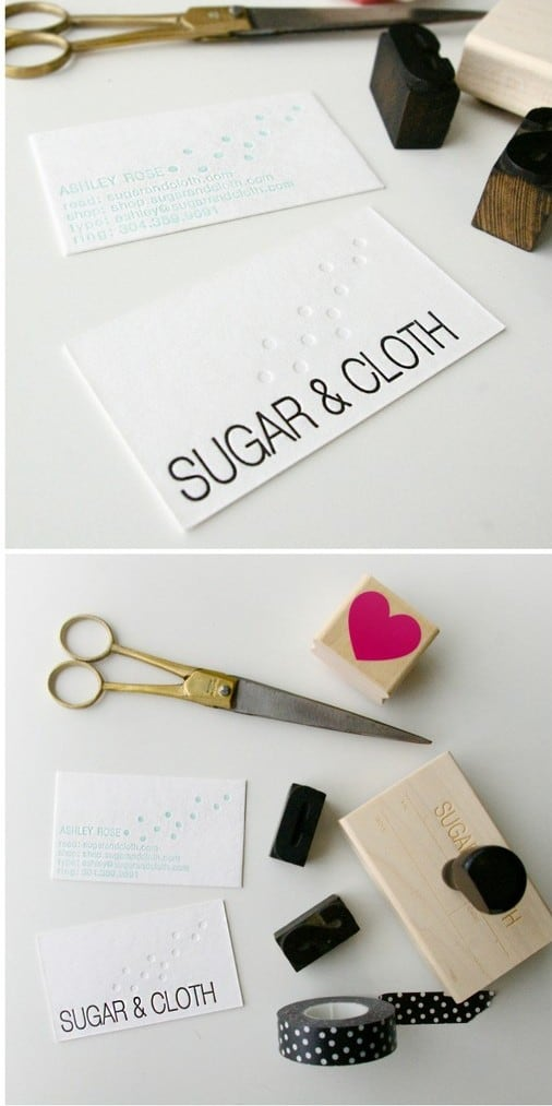 New Business Cards Sugar Cloth Behind The Blog