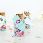 DIY Mini Confetti Jar Favors
