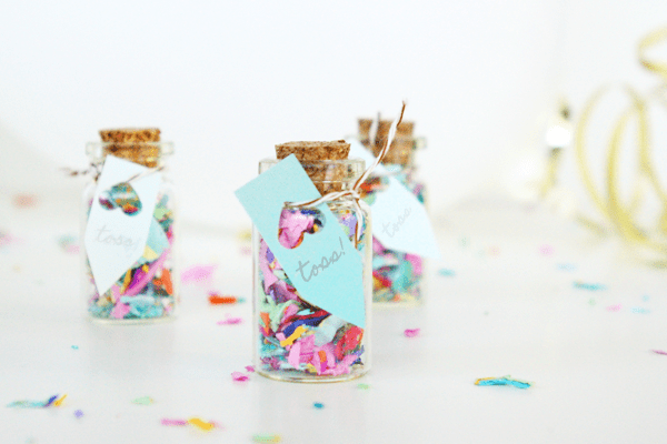 DIY Mini Confetti Jar Favors - Sugar & Cloth - Houston Blogger - DIY - Entertaining