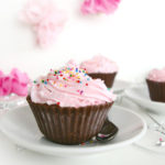 Ice Cream Cupcakes with Chocolate Liners