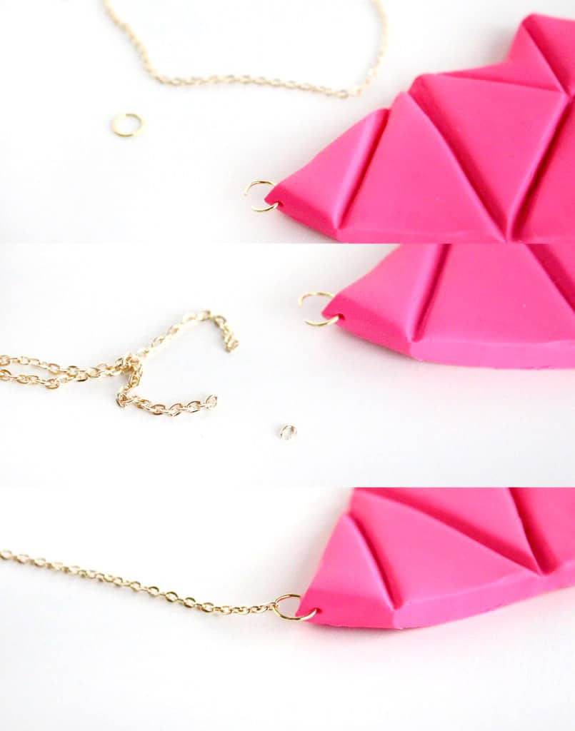 diy geometrik bib necklace