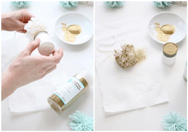 DIY Pom Pom Gift Wrap Ideas - Sugar & Cloth - Houston Blogger - Holiday - DIY