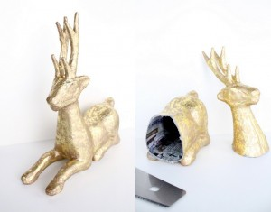 DIY paper mache animal heads