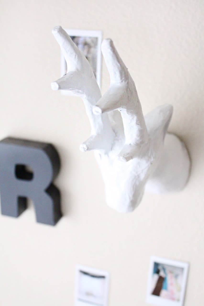 simple DIY paper mache animal head