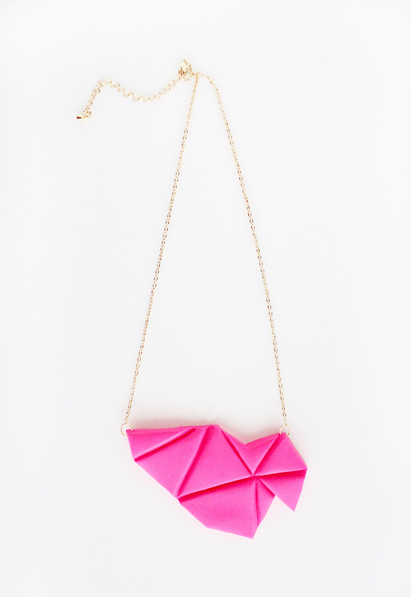 DIY geometric bib necklace #KollaboraAltSummit