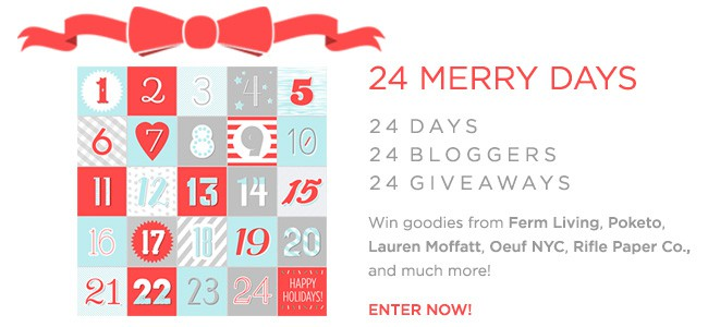 24 days of blogger giveaways