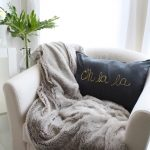 DIY Gold Foiled Pillow