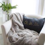 DIY Gold Foiled Pillow