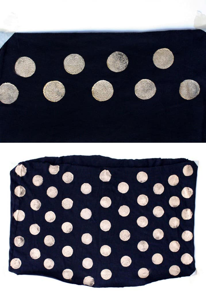 DIY No-Sew Polka Dot Infinity Scarf - Sugar & Cloth - DIY - Houston Blogger