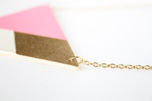 DIY wooden triangle necklace