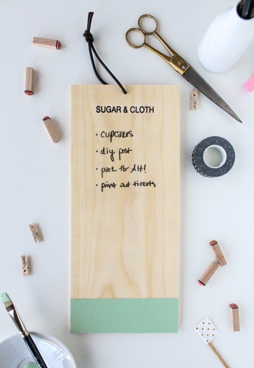 DIY Chalkboard anything to-do list - Sugar & Cloth - Event - DIY - Houston Blogger