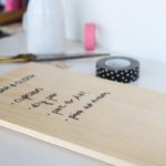 DIY Chalkboard anything to-do list