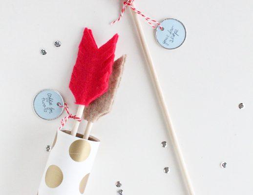 DIY date night valentine arrows