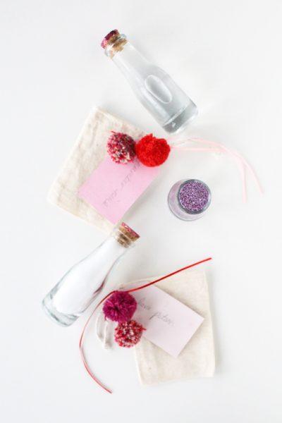 DIY bath gel love potions with @marthastewartliving supplies
