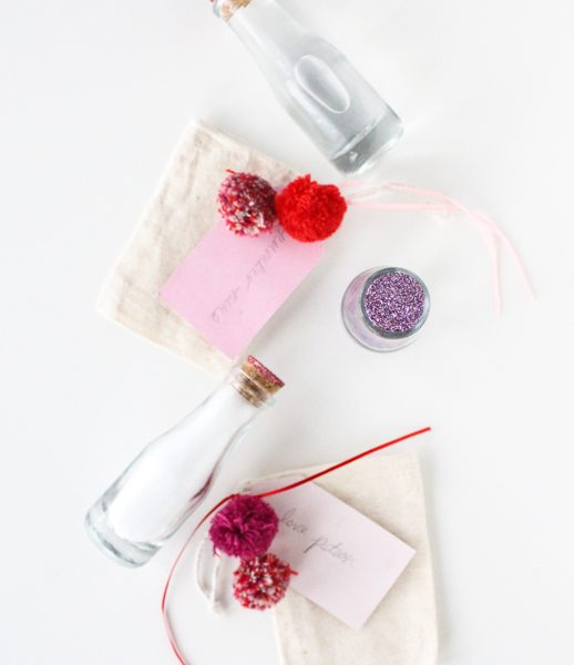 DIY bath gel love potions with @marthastewartliving supplies