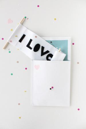 love letter scroll DIY