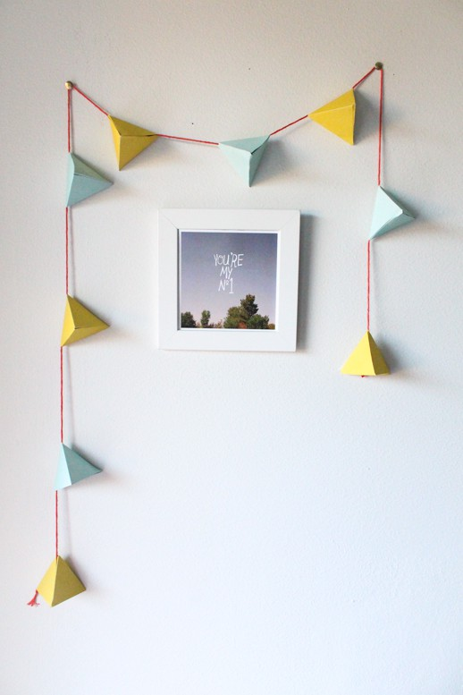 DIY geometric candy garland