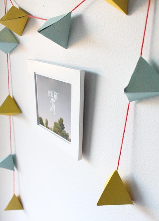 DIY geometric candy garland