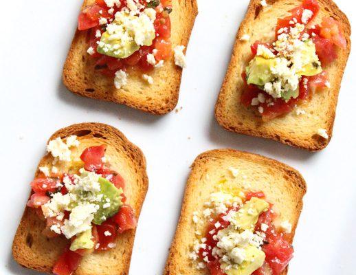 recipe for the best five-minute bruschetta