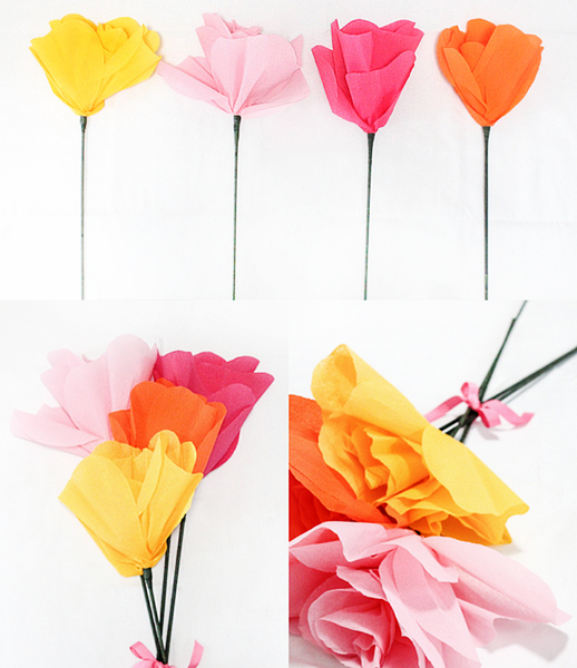 DIY giant flower bouquet