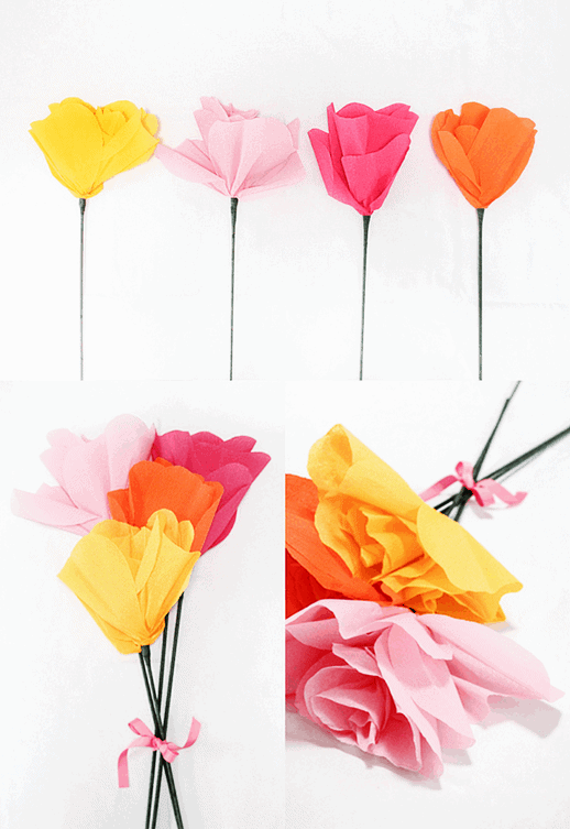DIY Giant Paper Flower Bouquet - Sugar & Cloth - Houston Blogger - DIY