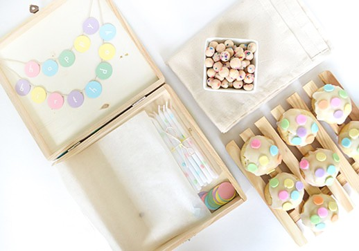 DIY confetti birthday box contributed by Snow Drop and Co.
