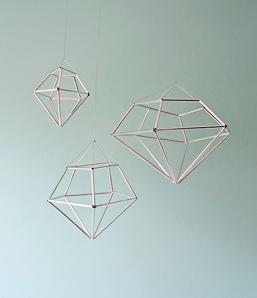 DIY hanging diamond decor from contributor kathleen