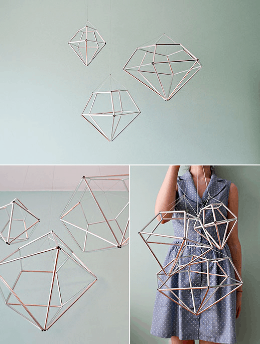 diy hanging diamond decor sugar cloth home decor diy houston blogger - Diy Decor