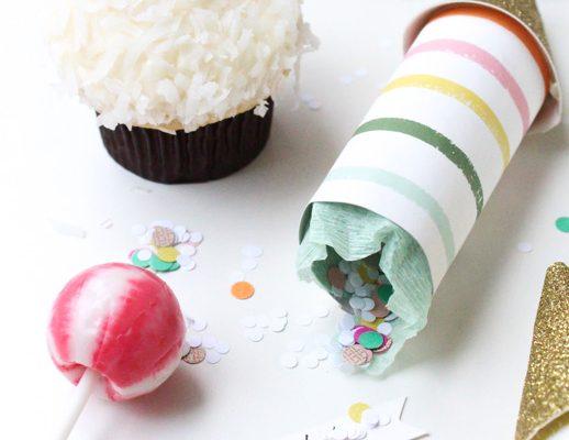 DIY party poppers by Sugar & Cloth