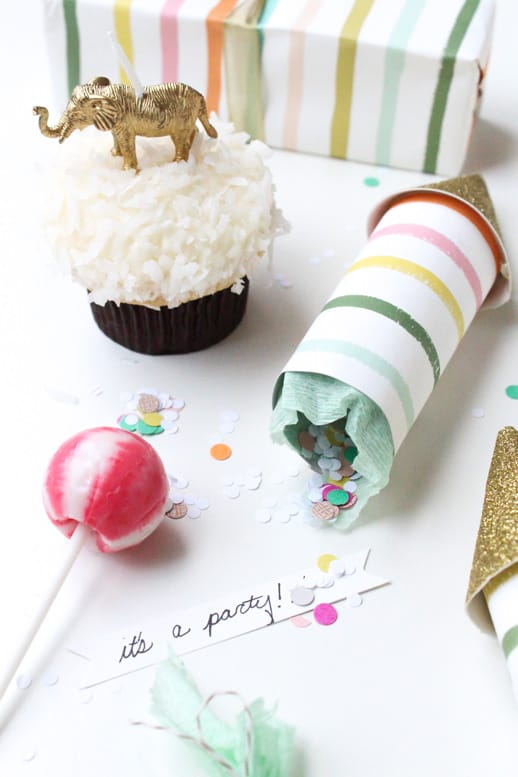 DIY Surprise Party Poppers - Sugar & Cloth - Houston Blogger - DIY - Entertaining