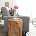 DIY Ombre Stump Side Tables
