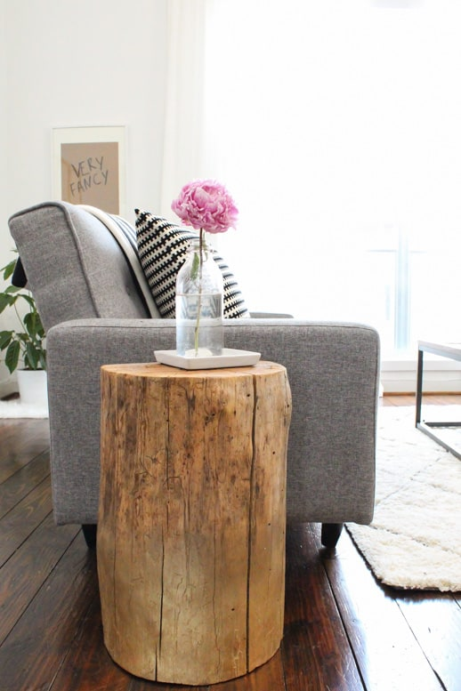 diy ombre stump side tables sugar u0026 cloth houston blogger home decor