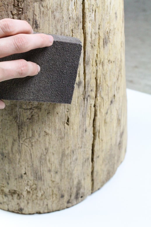 DIY Ombre Stump Side Tables - Sugar & Cloth - Houston Blogger - Home Decor
